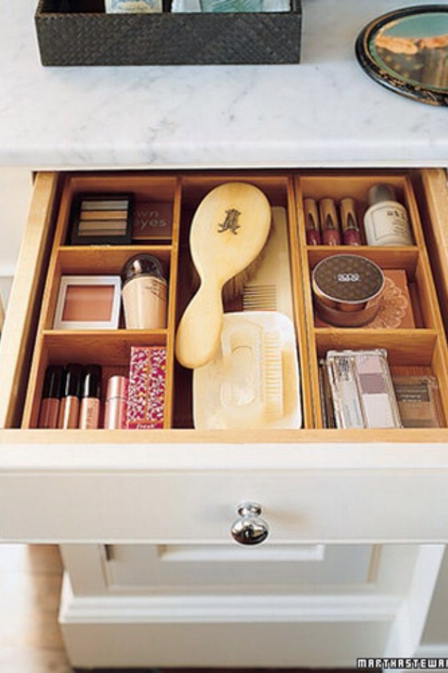 Drawer organizers - bamboo boxes - Probably at the Container store