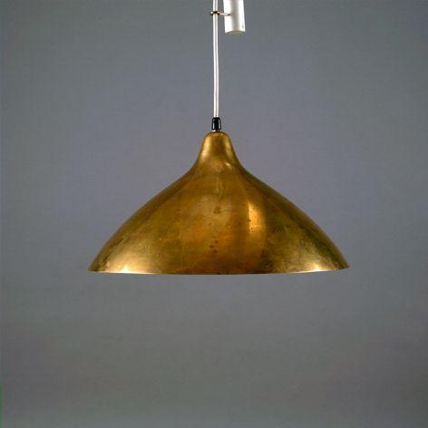 Lisa Johansson-Pape; Brass Ceiling Light, c1950.