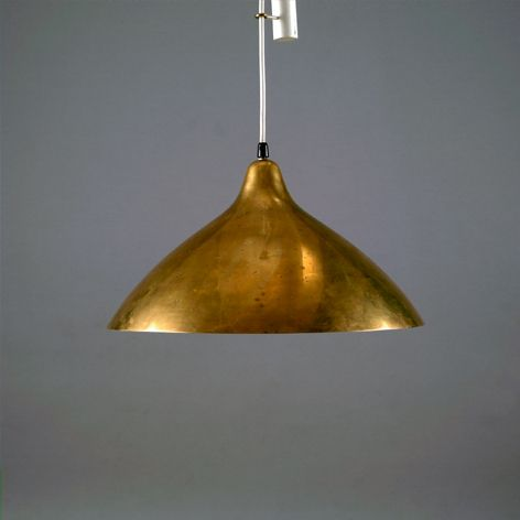 Lisa Johansson-Pape; Brass Ceiling Light, c1950.