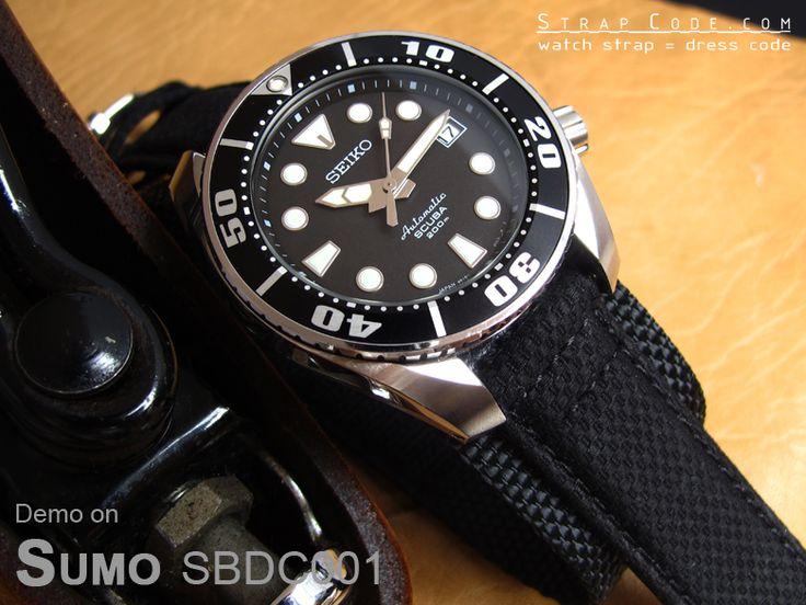 Seiko 200m Sumo Scuba Diver Sbdc001 On Miltat 20mm Double
