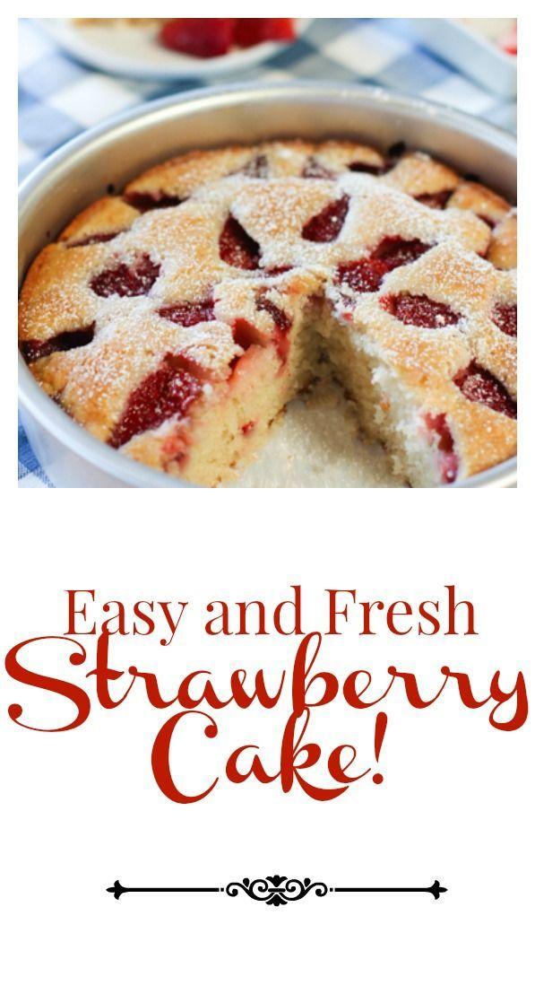 Easy Strawberry Cake