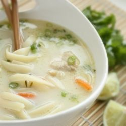 Thai Coconut Chicken Noodle Soup   Pretty hair do's/ lots of nummy fo ...