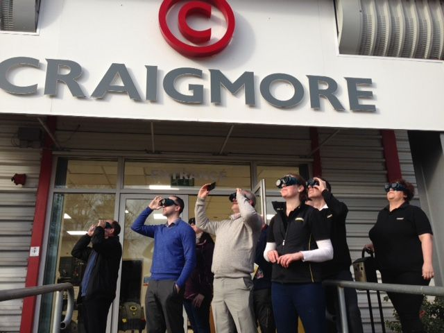 Hope everyone enjoyed the eclipse, The staff at Craigmore got to watch it through welding glasses and it was a great experience, though Geoff didn't make the picture as he was the designated photographer. Awww!