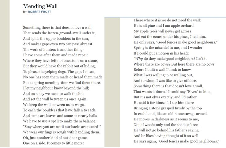 mending wall by robert frost poems robert frost