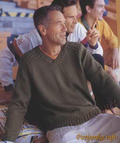 Пуловер с воротником V (м) 07 Creations 2008 BDF №2183
