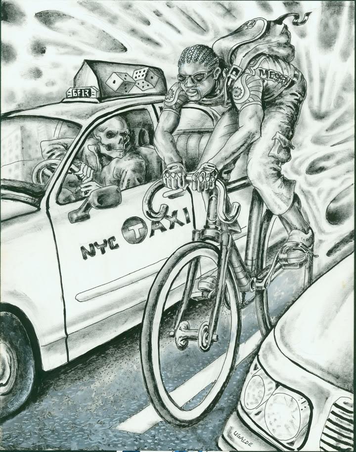 Greg Ugalde, bike messenger & bike art