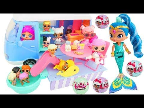 Shimmer and Shine Game Morning Routine Camping Van Picnic Car Emoji Movie Colors! - YouTube