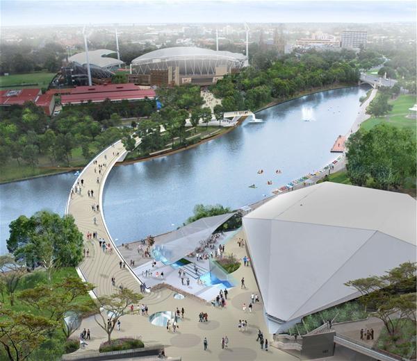 New Footbridge design - Adelaide Oval - Riverbank