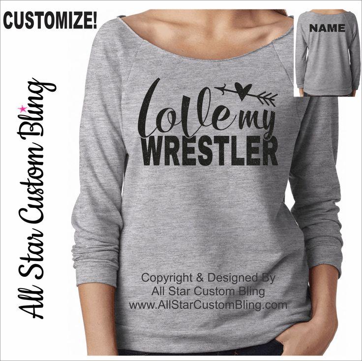 Love My Wrestler Raw Edge Terry Raglan, Wrestling Mom Shirt, Custom Wrestling Shirt, Love Wrestler Shirt, Personalized Wrestling Mom Shirt by AllStarCustomBling on Etsy