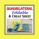 Quadrilateral Foldable with Cheat Sheet.  Create a Quadrilateral foldable or just pass out the cheat sheet, the choice is yours. Great for an inter...