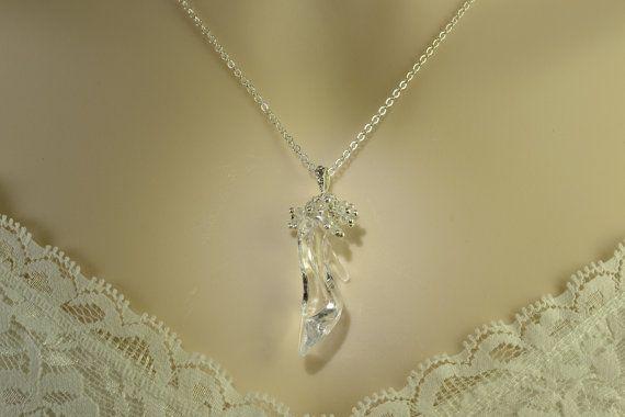 Cinderella Necklace Cinderella Glass Slipper Necklace by Gemsicles