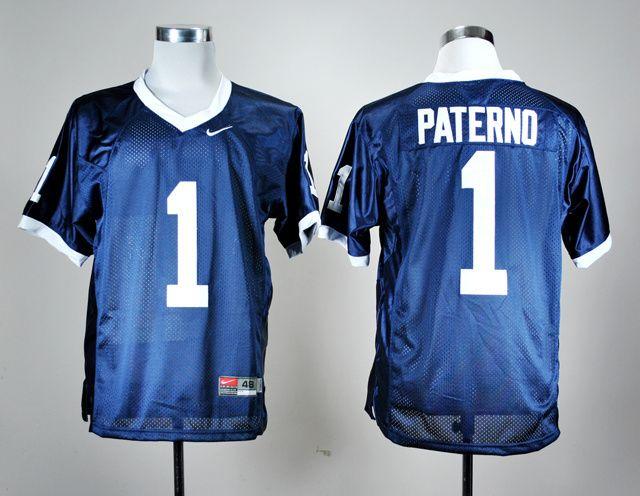Men's NCAA Penn State Nittany Lions #1 Joe Paterno Navy Blue Jersey