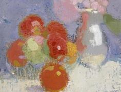 Helene Schjerfbeck: Punaiset omenat/ Red apples 1915 http://www.visithelsinki.fi/sites/visithelsinki.fi/files/imagecache/main_image_small/visitor-mainimage/helene_schjerfbeck_punaiset_omenat.jpg