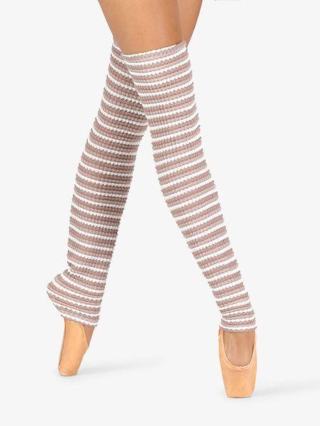 Natalie Womens Striped Knit Legwarmers