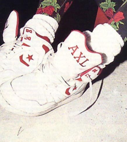 Axl Rose'sCustomConverseWeapons. There was a competition here in Australia through Coca Cola to win a pair. I never did!!