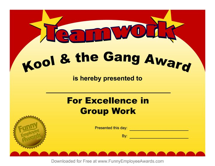 Fun award templatefree employee award certificate for Funny certificates for employees templates