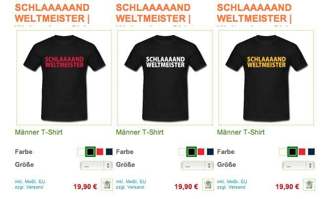 SCHLAAAAAND WELTMEISTER | Weltmeister Shirts WELTMEISTER FAN SHIRTS - Deutschland ist im Finale. Fussball Fanshirts, Städte- und Sportmotive... weitere Motive findet Ihr auf www.Bembeltown.Spreadshirt.de - www.Bembeltown.de und Facebook.  #SCHLAAAAAND, #Deutschland #Motive, #WeltmeisterMotive, #Fussballmotive, #FanShirts, #FanMotive, #Weltmeister #Shirts, #Schland, #WMshirt #WorldCup #Fussball #Germany