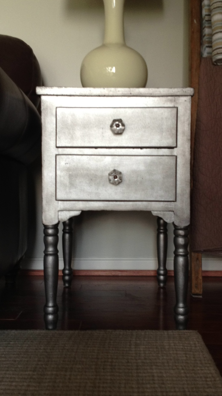 17 Best Images About Metallic Painted Furniture On