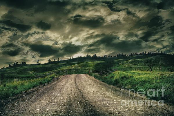 clouds,country,contrast,weather,sun,road,gravel road,dirt road,fence,old fence,grass,trees,greens,yellow,lonely,dramatic,dramatic clouds,dramatic landscape,hdr,road,field,meadows,landscape,skyscape,cloudy,still life,storm