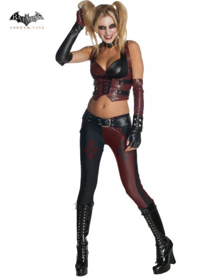 Adult Sexy Batman Arkham City Harley Quinn Costume