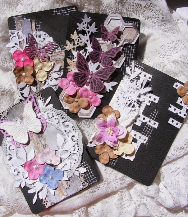 Sapimanó Kreatívblogja: Sizzix - Prima - Cards and Tags / Kártyák a mini albumba