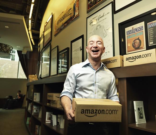 Jeff Bezos, head of Amazon. Net Worth $25 billion!