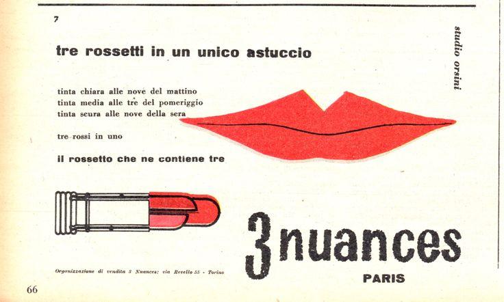 3 NUANCES - Rossetto - cm 17x10 (Grazia 1953)