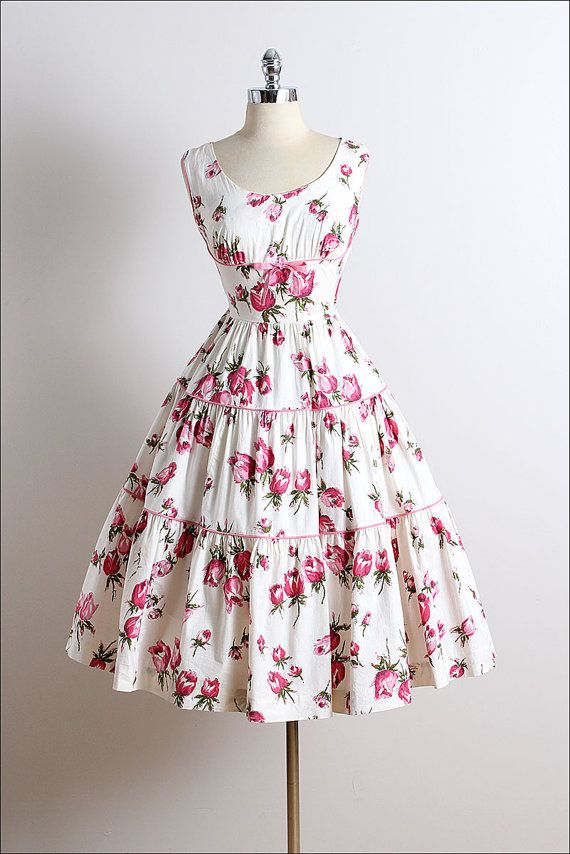 Vintage 50s dress | Wendy Wood 1950s dress