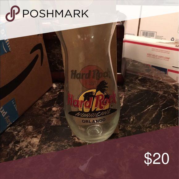 Hard Rock Cafe Hurricane Glass Orlando Glass with Box 📦 Hard Rock Cafe Accessories
