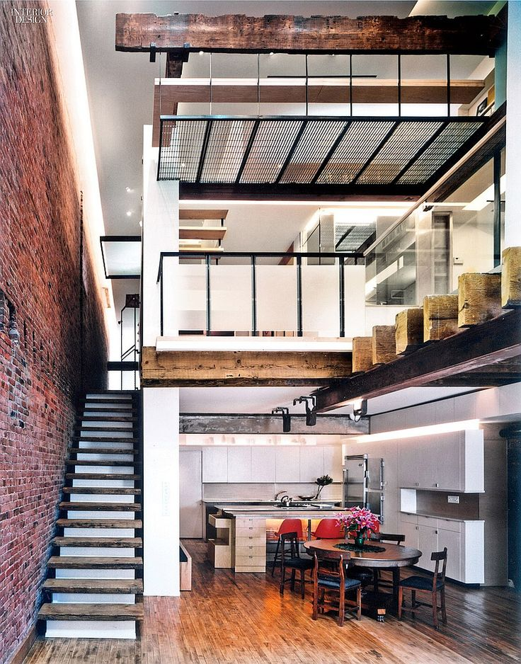 Project: Live-work duplex. Firm: Marpillero Pollak Architects. Location: TriBeCa, NY. Photography by Michael Howerton/Esto.