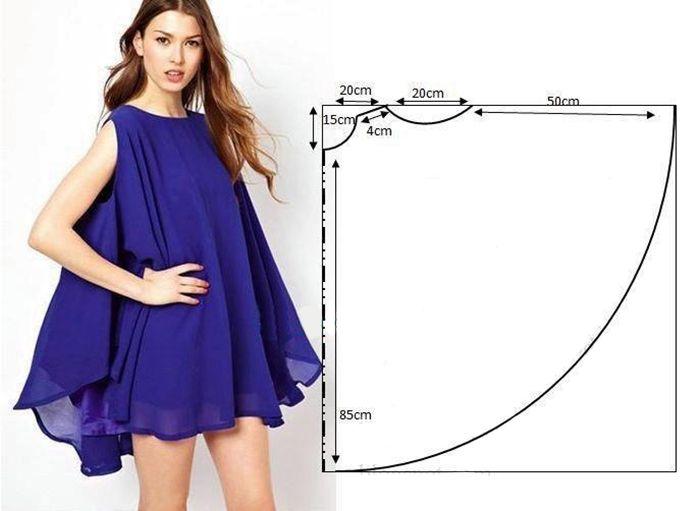 Простые модели платьев с выкройками » Женский Мир