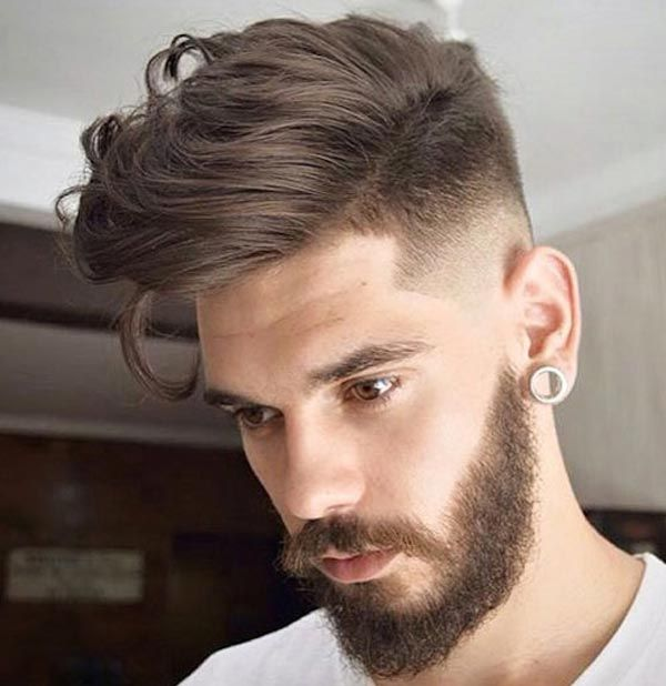 comb over with Tapered Low Skin Fade haircut