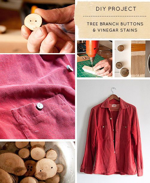 Pick up some branches on your Autumn hike and make some amazing buttons!