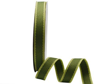 Stitched Twill. #Barama #Ribbon #Moss #Giftpackaging #Christmas #Christmasribbon #Christmaswrapping #natural