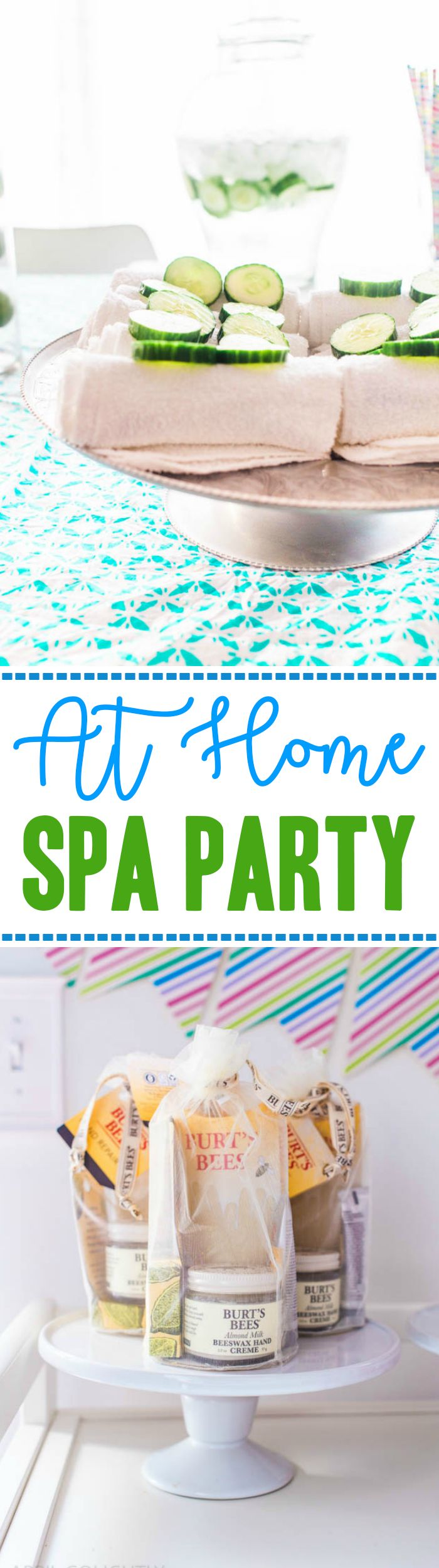 Spa Night at Home with menu with recipes and drink recipes, spa party plan with feet and hand focus to keep them moisturized and relaxed #gathernow AD