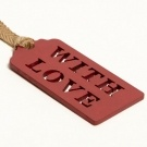 Sophia Victoria Joy With Love Wooden Gift Tag Red