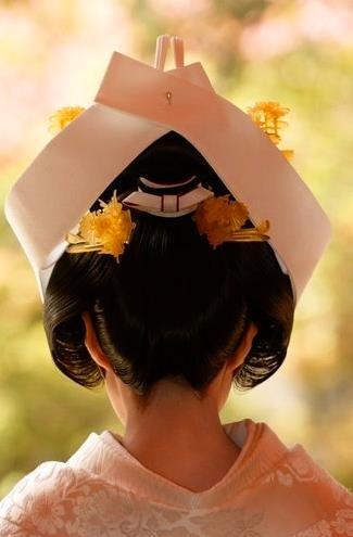 Japanese Wedding 鬘*角かくし*スタイル*