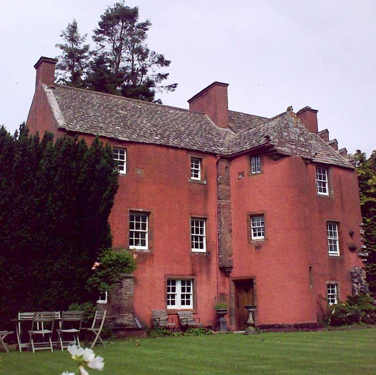 Farnell Castle, Brechin, good example of 16th century Scottish domestic architecture. An oblong tower house