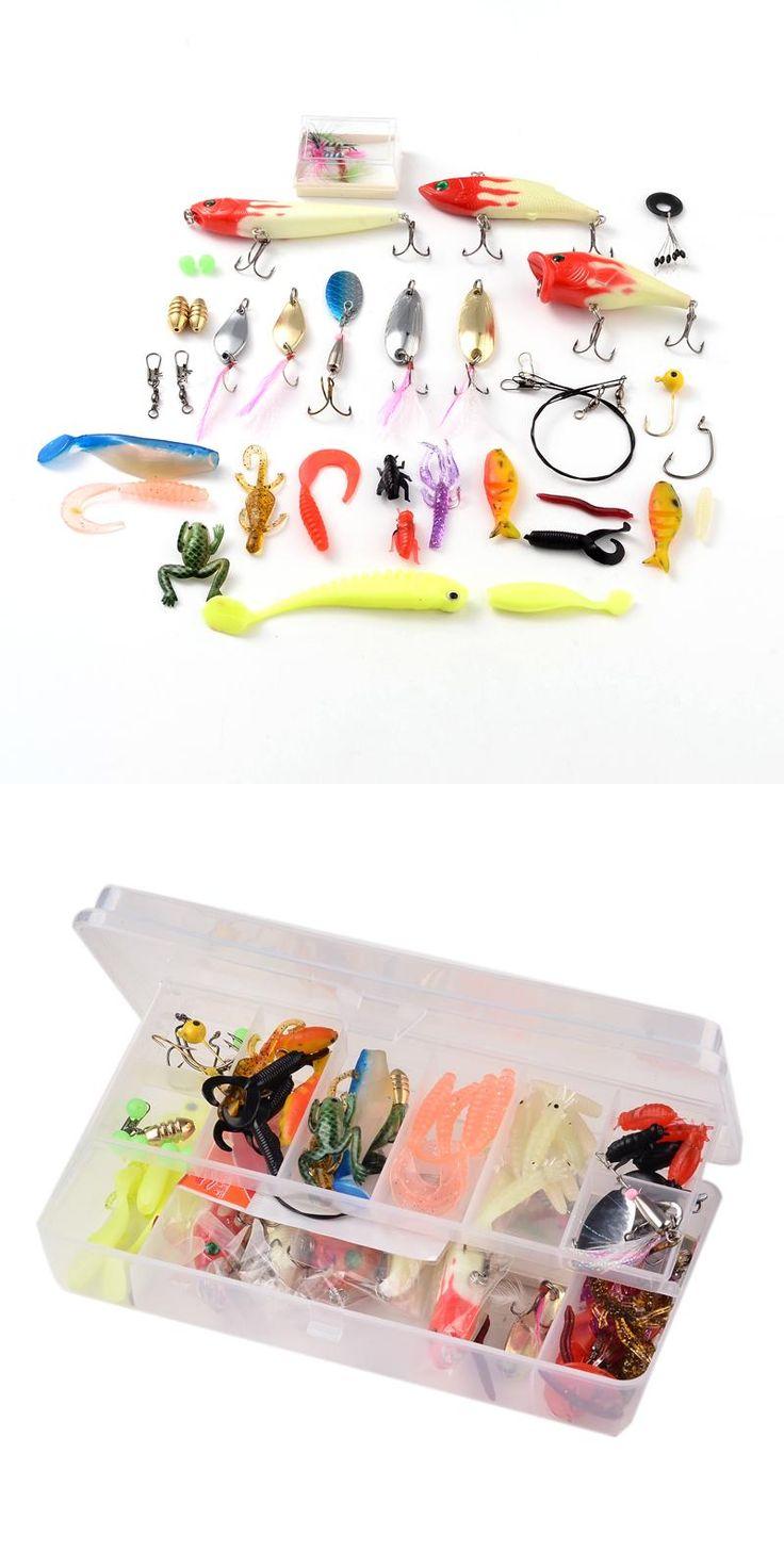 [Visit to Buy] 100Pcs/Box Fly Fishing Various Fishing Kit Set Trout Salmon Dry Flies Fish Hook Lures Pesca Soft Bait Hard Bait Lure Fishing Box #Advertisement
