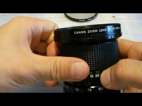 Canon Fd Zoom 35 105 Mm 1 3 5 Overview Vintage Japan Canon Lens Canon Lens Vintage Japan Vintage