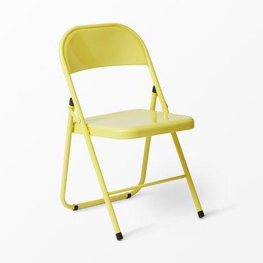 Hopfällbar stol Rex, 78x46 cm, gul