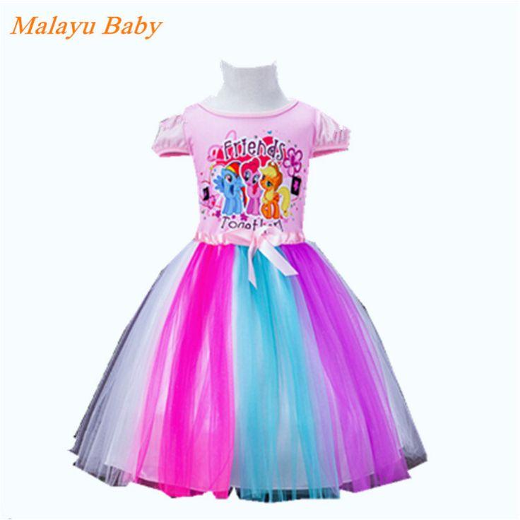 $8.16 (Buy here: https://alitems.com/g/1e8d114494ebda23ff8b16525dc3e8/?i=5&ulp=https%3A%2F%2Fwww.aliexpress.com%2Fitem%2F2016-new-girl-dress-Vestidos-Elsa-Snow-Queen-Kids-clothing-girl-summer-rainbow-dress-chiffon-party%2F32582050707.html ) Malayu Baby 2016 New Girl Princess Dress Up Kids Pony / Anna Girl Short Sleeve Cotton Ballet  Dress Girl's Christmas Dress for just $8.16