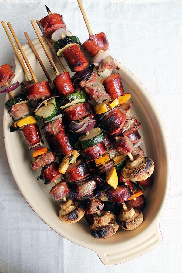 Mi Diario de Cocina | Anticuchos de carne y vegetarianos | http://www.midiariodecocina.com