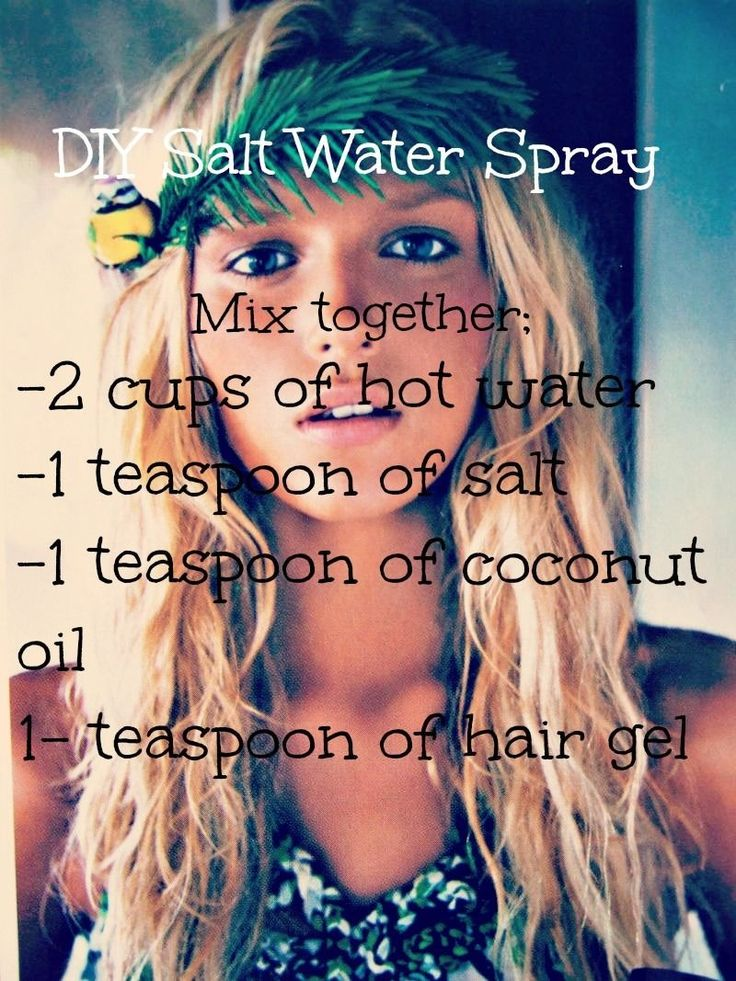 DIY salt water spray! Get those cool beachy waves without stepping foot on the sand <3 I always wanted to have curls.