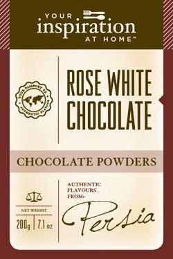Rose White Chocolate Powder #yiah #chocolate
