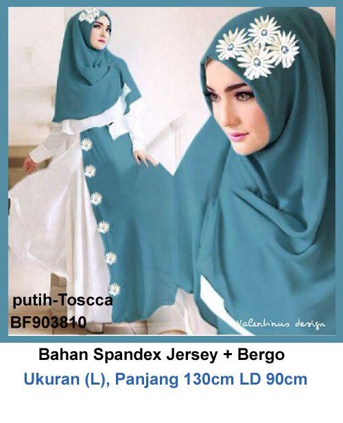 Baju Gamis Modern Terbaru - Detail produk model Gamis jersey ukuran L 810: Bahan :Spandex Jersey Kode : BF903810 Ukuran : fit to L, panjang 130cm LD 90cm Warna : putih-Toscca Harga :