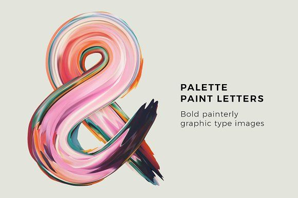 Palette Paint Letters by Design Assets on @creativemarket
