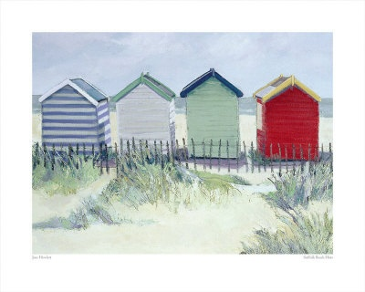 I love this print of beach huts.  Can't figure out where to put it except in our bathroom, so you may only see it here. ;)