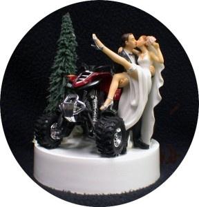 ATV Wedding Cake Topper   Quad ATV Off Road 4 Wheeler Wedding Cake Topper Sexy Funny Red ...
