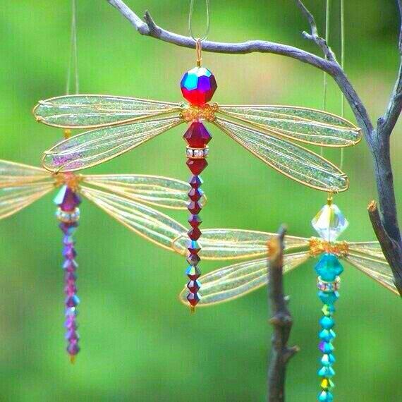 DIY Dragonfly Suncatchers